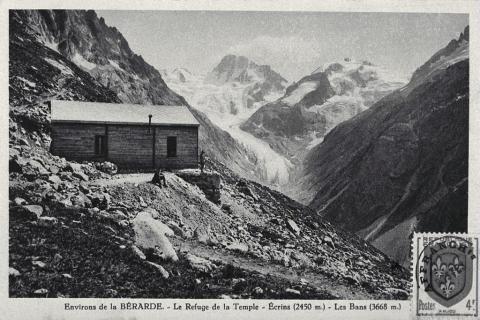 Carte postale ancienne - collection Lucien Tron - Refuge Temple-Ecrins