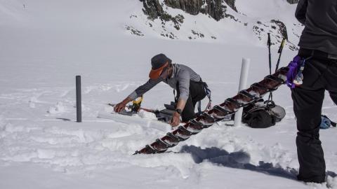 Carottage glacier Blanc 2017 - Parc national des Ecrins