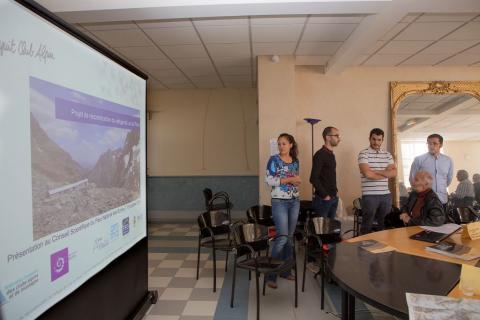 Présentation projet refuge du Pavé - Conseil scientifique - oct 2018 - © P.Saulay - Parc national des Ecrins