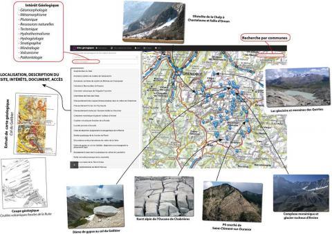 Geol ecrins, un mini-site internet créé par le Parc national des Ecrins