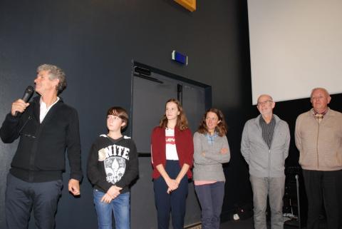 Un film sur la géologie en Oisans a été présenté, en présence des élèves du collège et de leur professeur Franck LEMAIRE