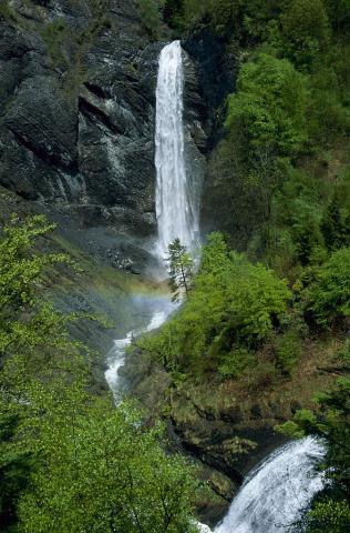 cascade de Confolens, Valbonnais © JP-Nicollet - Parc national des Écrins