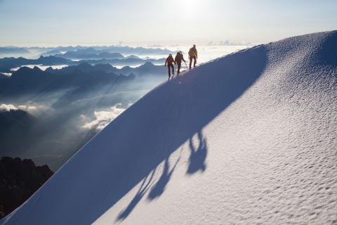 Alpinisme dans les Ecrins © Abdou Martin - Parc national des Ecrins