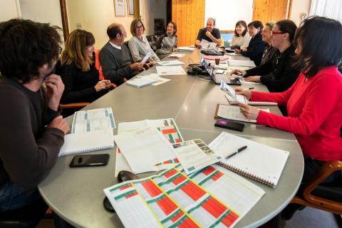 Réunion technique de préparation de l'accueil du congrès RNF - mai 2019 - mairie du Monêtier-les-Bains -© P.Saulay- PNE