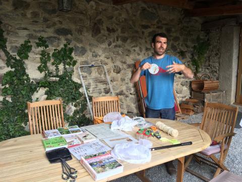 Pascal Aspe lors de la formation Biodiversité dans les jardins le 27 mai 2019
