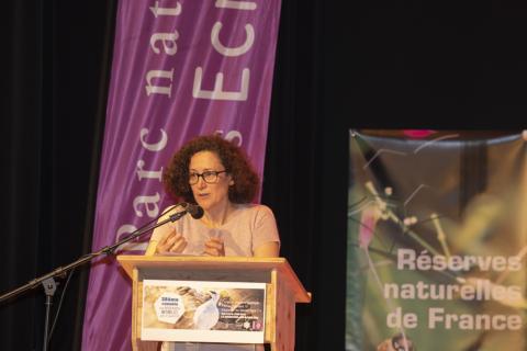 Emmanuelle Wargon - secrétaire d'Etat transition écologique - Congrès RNF  - juin 2019 - photo P.Saulay - Parc national des Ecrins