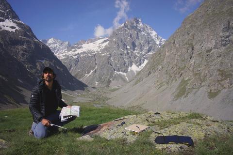 Bertrand Planes au refuge de l'Alpe de Villar d'Arène - photo Sabine Kaintz