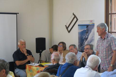 Conseil d'administration à Gioberney - 10 juillet 2019 - photo I.Vidal - Parc national des Écrins