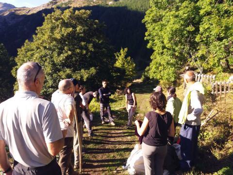Formation pierre sèche 2019 à Dormillouse -Parc national des Ecrins