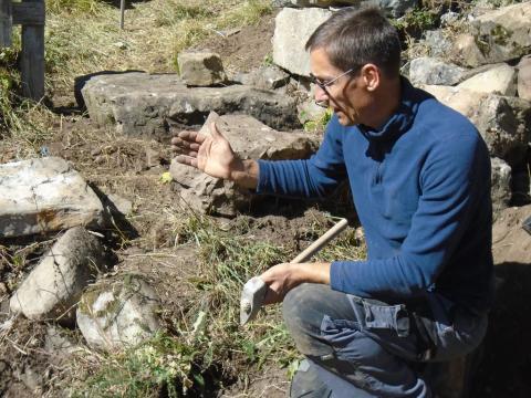 Loys Ginoul - Formation pierre sèche 2019 à Dormillouse - photo S.D'houwt - PNE