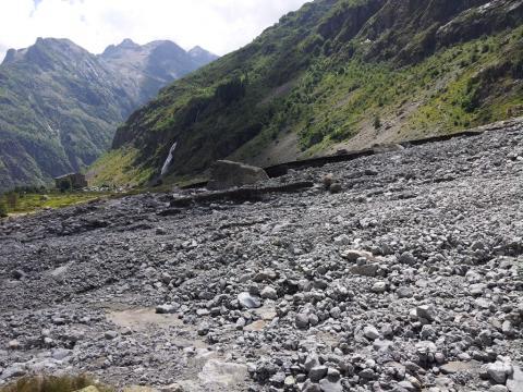 Gioberney après l'orage du 8 août 2017 - © O.warluzelle - Parc national des Écrins