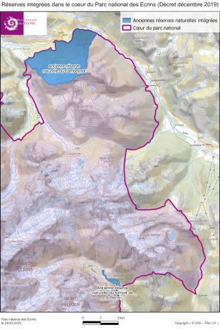 Les 2 réserves naturelles intégrées dans le cœur du Parc national des Ecrins