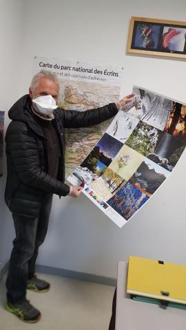 Le bat du calendrier 2021 - Parc national des Ecrins