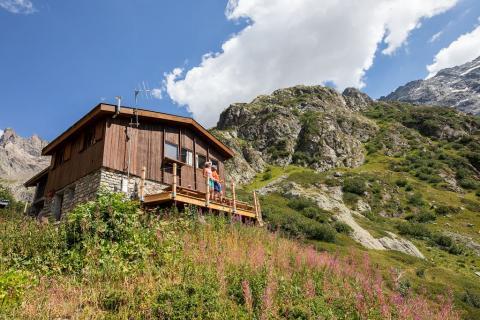 Le refuge de Chabournéou dans le Valgaudemar - T. Blais - Parc national des Ecrins