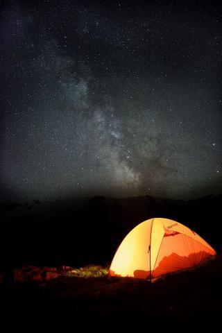 Bivouac sous les étoiles - photo Mireille Coulon - Parc national des Ecrins