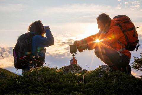 Bivouac - avant le départ - photo Thibaut Blais - Parc national des Ecrins