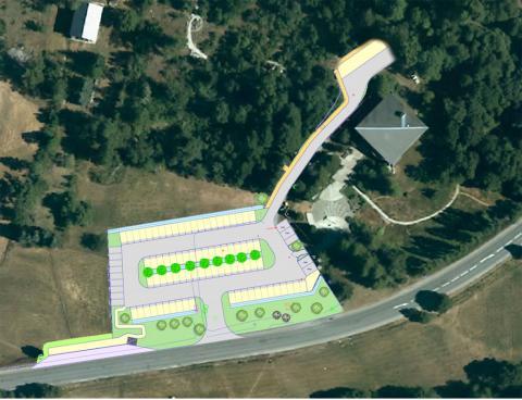 Plan de simulation aménagement et extension parking Vallouise