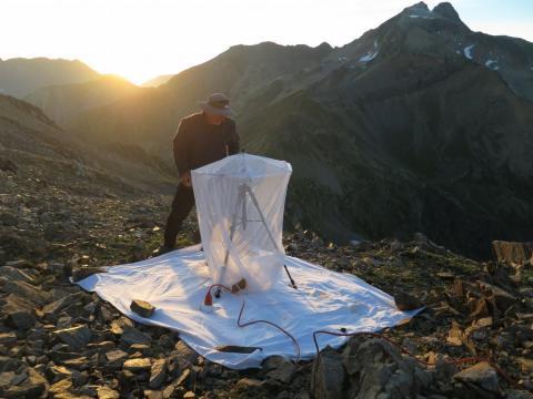 Préparation d'un inventaire nocturne - photo N.Bertrand - Parc national des Ecrins