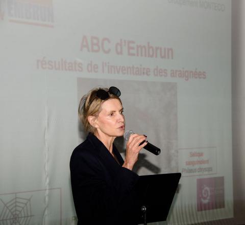 Restitution ABC d'Embrun et Fête de la nature- Chantal Eyméoud maire d'Embrun © Mireille Coulon - Parc national des Ecrins