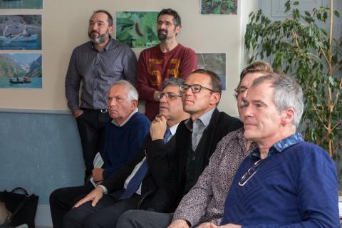 Fabien Arnaud (en haut à droite) à l'occasion du 100e conseil scientifique - © P. Saulay - PNE