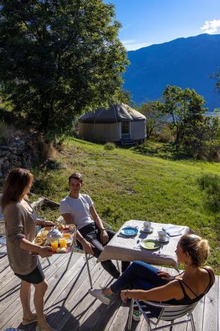 Petit-déjeuner maison et local à la Ferme de Beauté - © B. Bodin - PNE