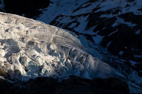 Le glacier Blanc au lever du jour - © T. Maillet - PNE