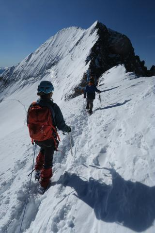 Initiation à l'alpinisme au Dôme des Ecrins - © L. & M. Imberdis - PNE