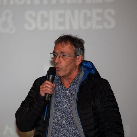 Patrick Vigne aux Rencontres montagne & sciences en 2019 - © T. Maillet - PNE