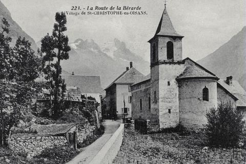 Le village de Saint-Christophe en Oisans© Tron Lucien (collection)