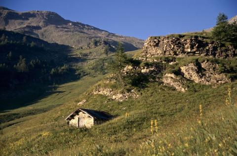 Vieille cabane de Fouran ©Christian Couloumy - Parc national des Ecrins