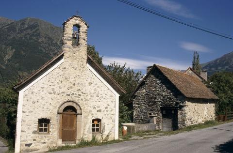 L'église et le four à pain de Lallée ©Olivier Warluzelle - Parc national des Ecrins