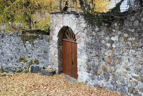 Porte à Saint-Maurice (architecture) ©Dominique Vincent - Parc national des Ecrins