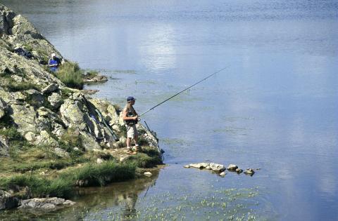 pêche lac Besson © Parc national des Écrins