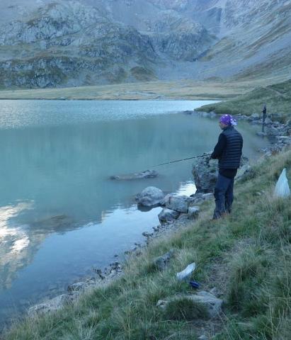 Prélèvement de poisson au lac de la Muzelle ©SagotClotilde