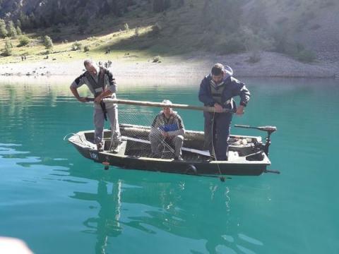 Pêche scientifique Lauvitel ©JForet