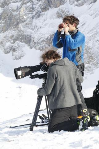 tournage film © C.Coursier - Parc national des Écrins
