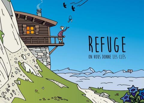 Illustration Joel Valentin - livret Refuges, on vous donne les clés - Parc national des Ecrins