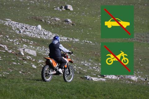 Moto en milieu naturel - pratique prohibée - © Marc Corail - PNE