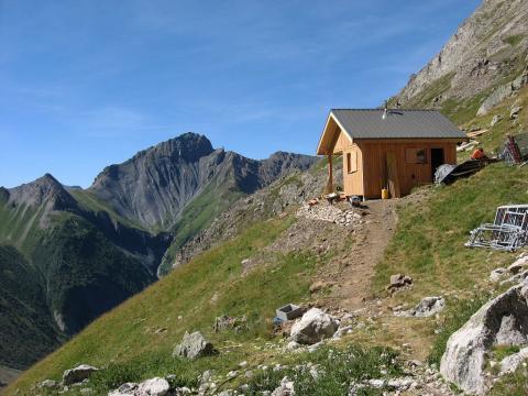 Travaux cabane d'alpage Valjouffrey © PN Ecrins