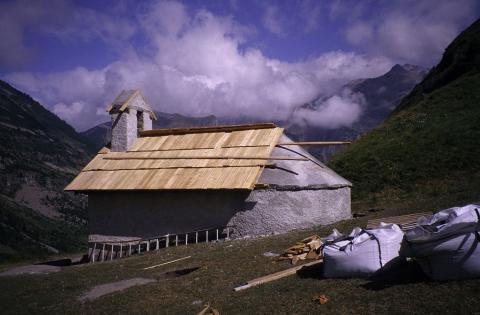 Chapelle Saulce - Orcières - en restauration - © M.Francou - Parc national des Écrins