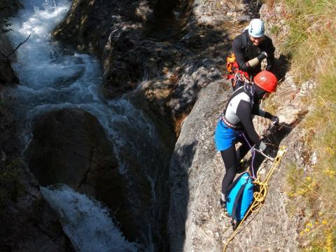 Canyoning ©Thierry Maillet - Parc national des Ecrins