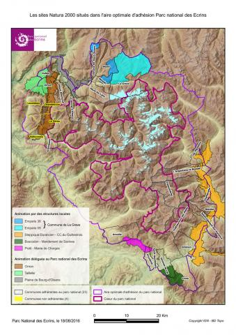 Natura 2000 dans l'aire optimale d'adhésion du Parc national des Ecrins