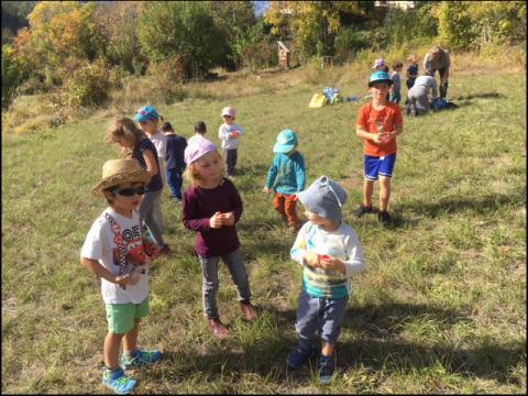 Jeunes découvreurs des Vigneaux avec le Parc national des Ecrins - sortie octobre 2018 -
