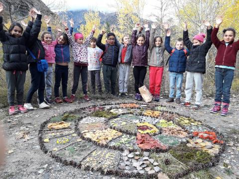 Jeunes découvreurs l'Argentière la Bessée - Art et nature avec le parc national des Écrins - 2018-2019