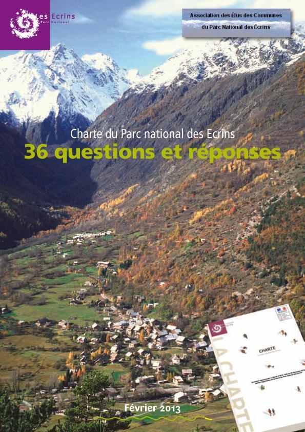 36 questions et réponses sur la Charte du Parc national des Ecrins - 2013