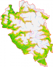 Carte enneigement à partir des données satellite MODIS - couverture végétale du Parc national des Ecrins