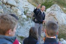 Glacier Blanc - 25 sept 2015 - projet pédagogique lyceens avec le parc national des Ecrins © Cinémathèque de montagne