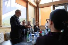 délégation chinoise dans le Parc national des Ecrins - Grand Bains Le Monêtier-les-Bains- octobre  2a017 - © C.Coursier - Parc national des Écrins