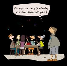 Refuge on vous donne les clés - illustration Joël Valentin - Parc national des Écrins