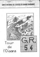 Couverture de la première édition du Topo guide du GR (r) 54